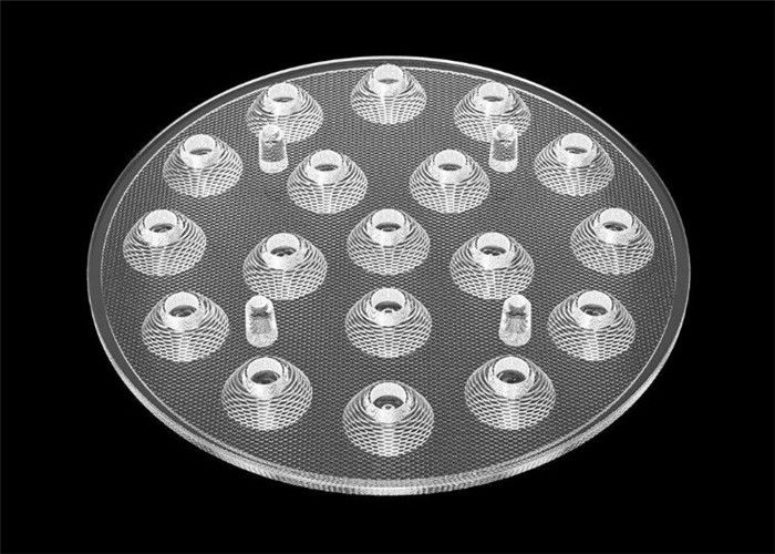 High Brightness LED Optics Lenses PMMA Material Transparent For LED Spot Lamp